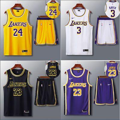 湖人队0号球衣尼克扬24号科比詹姆斯奥尼尔篮球服NBA上衣背心套装