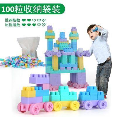 婴儿童积木桌拼装玩具智力开发男女孩子益智大颗粒启蒙积木雪花片