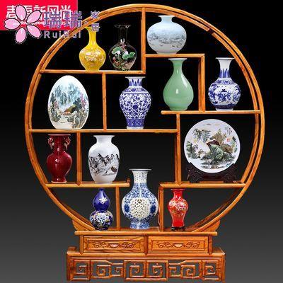 博古架陶瓷器摆件景德镇花瓶新中式客厅家居酒柜装饰品玄关小工艺