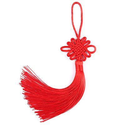 中国结小号挂件6盘大红色手工流苏穗子挂饰中国特色礼品送礼老外