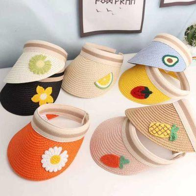韩版洋气空顶帽亲子款夏天户外出游防晒儿童遮阳帽可爱百搭女帽子