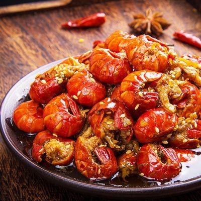 麻辣小龙虾尾即食香辣味零食熟食蒜香龙虾尾虾球非罐装小海鲜150g