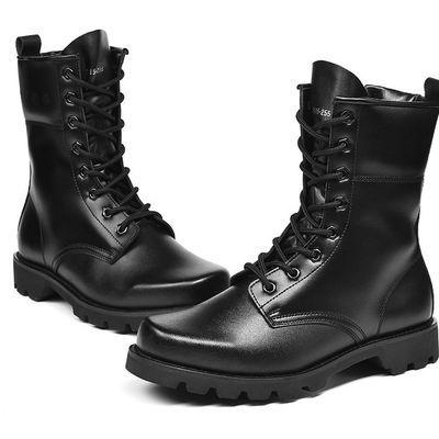 军靴男特种兵 作战靴超轻冬季羊毛保暖高帮陆战靴特战靴战术靴子