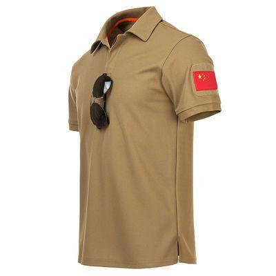 新款夏季户外宽松大码速干T恤男运动短袖衣特种兵T恤吸汗战术短袖