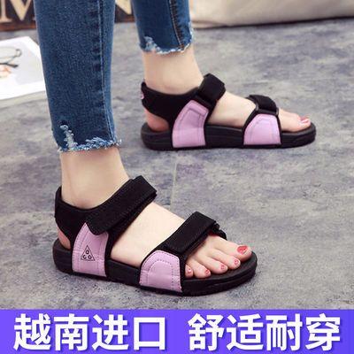越南皮凉鞋女士沙滩鞋2020夏季新款学生情侣女韩版休闲潮拖户外鞋