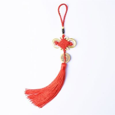红色中国结流苏穗子小号6盘中国结挂件吉祥家居挂饰中国特色礼品
