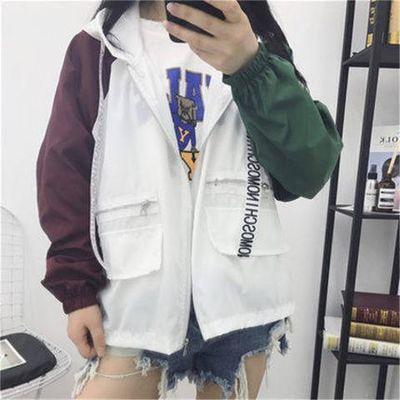 初中学生防晒衣外套女夏装2017新款韩版潮宽松bf短款百搭夏季衣服