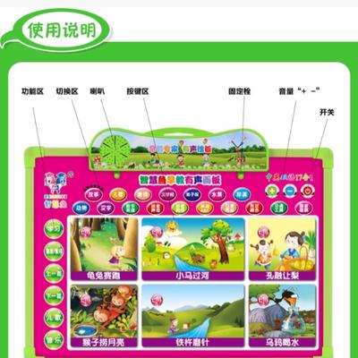 智慧鱼17合一智能语音画板儿童早教玩具多功能有声挂图书双语发声