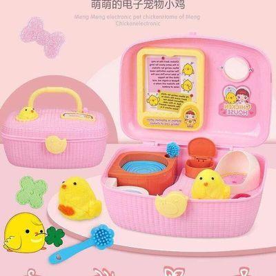 家用快乐可爱小鸡养成屋仿真动物玩偶过家家小伶玩具宠物女孩生日