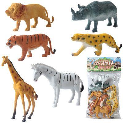 -特价仿真塑胶十二生肖小动物模型静态早教恐龙动物模型儿童玩具