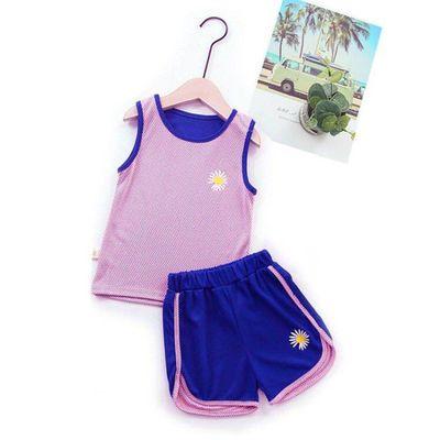儿童速干衣套装男童女童背心短裤运动篮球服两件套网眼夏装新款