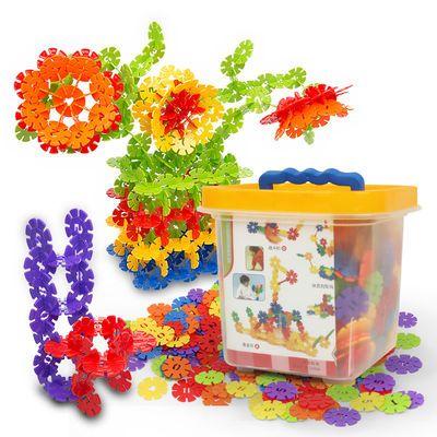 蓓臣雪花片玩具宝宝玩具大号加厚积木拼装益智男女孩拼插娃娃玩具