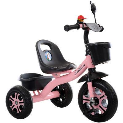 家用儿童三轮车脚踏车2-5岁宝宝脚蹬男女孩儿手推可骑1-3岁儿童自