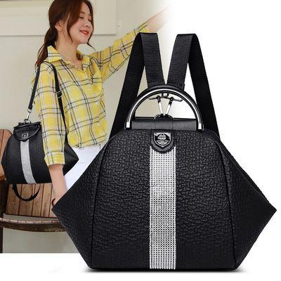 家用双肩包女2020新款韩版大容量背包妈妈包多用包软皮背包旅行包
