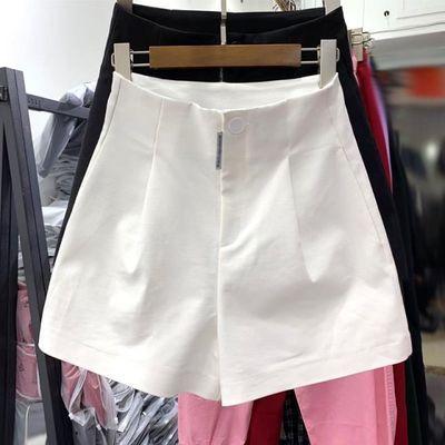 白色西装短裤女高腰a字2020夏薄款外穿网红超火宽松显瘦阔腿热裤