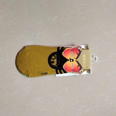 吸汗防滑纯棉瑜伽袜子专业舞蹈袜运动健身硅胶地板袜女式露背船袜