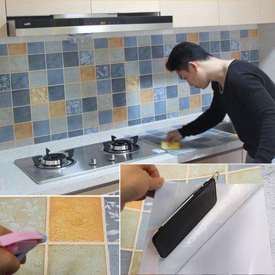 卫生间贴纸厨房防油贴灶台贴耐高温浴室防水瓷砖翻新墙纸自粘墙贴