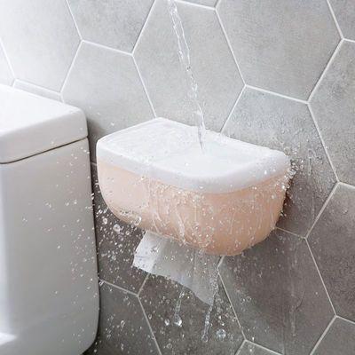 卫生间纸巾盒防水免打孔厕所浴室纸巾架洗手间卫生抽卷纸盒置物架