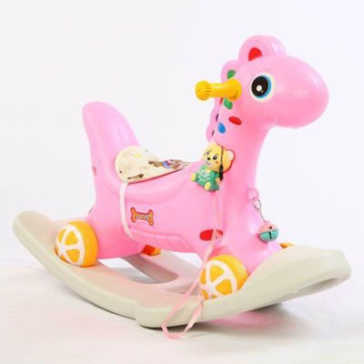 儿童摇马玩具木马宝宝摇摇马婴儿大号两用1-3-6岁带音乐骑马车