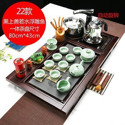 新款全自动紫砂茶具套装四合一家用功夫茶道实木茶盘整套茶台茶海