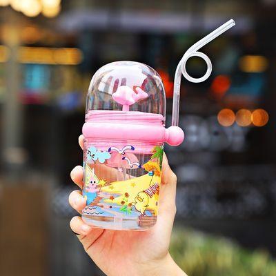 金鱼杯子会喷水的鲸鱼喷水杯子多功能夏天学生可爱宝宝便携喷泉杯