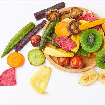 雅集综合果蔬脆果蔬干250g混合组合装蔬菜干水果干蔬果大包装零食