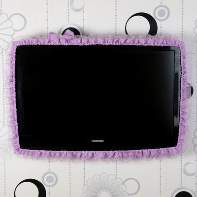 【带后沙】创意蕾丝边框台式机电脑罩电脑防尘布液晶显示器装饰套