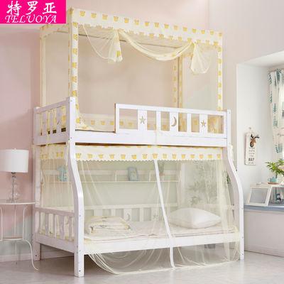 热销子母床蚊帐上下铺儿童梯形1.2米双层床学生宿舍高低床上下床1
