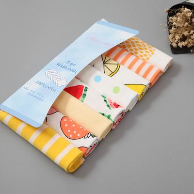 爆款新生儿纯棉纱布口水巾外贸婴儿喂奶巾8条装宝宝手帕小方巾洗