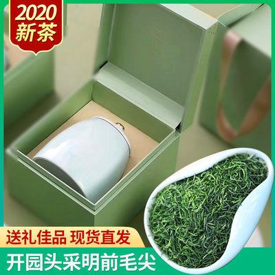【礼盒】2020新茶现货礼盒瓷罐装明前特级信阳毛尖嫩芽绿茶200克