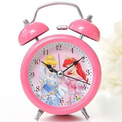 儿童专用床头闹钟可爱卡通小学生公主女孩女童的卧室静音创意韩版
