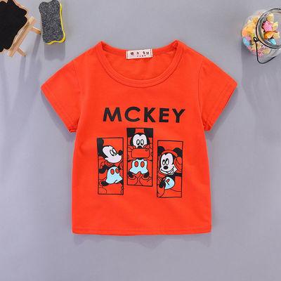 宝宝短袖t恤夏季纯棉0婴儿上衣3岁儿童短袖T恤女童半袖洋气夏装男