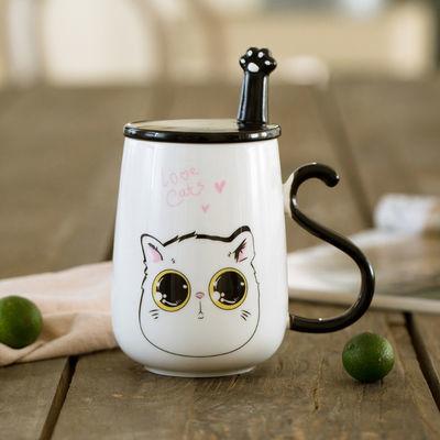 爆款可爱猫咪马克杯情侣杯子陶瓷杯牛奶杯咖啡杯水杯创意咖啡杯大