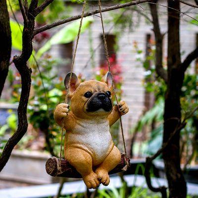 园林景观花园摆件可爱创意仿真小狗庭院装饰挂件