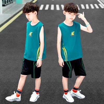 童装男童夏款速干衣男童无袖短裤套装儿童运动服篮球服2020新款潮