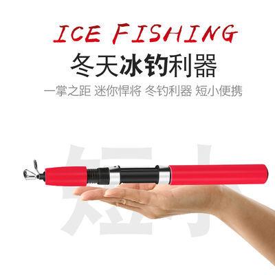 渔烈钓具 冬钓竿冰钓竿套装超短迷你鱼竿套装冰钓轮冰钓支架鱼漂
