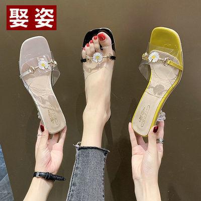 娶姿拖鞋女夏季新款ins网红小雏菊凉拖鞋女外穿韩版百搭时尚女鞋