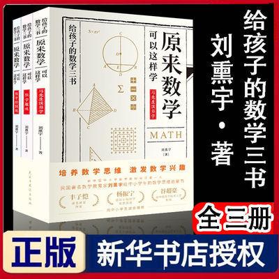给孩子的数学三书原来数学可以这样学中小学生数学图书籍刘熏宇著