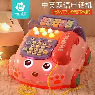 知识花园婴儿童仿真电话机座机3男宝宝音乐益智早教玩具0-1岁女孩