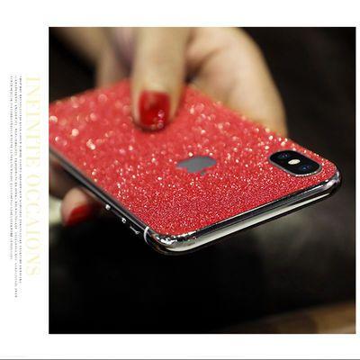 苹果8plus前后膜7手机贴膜iPhone11pro贴纸xsmax闪粉xr保护背膜6s