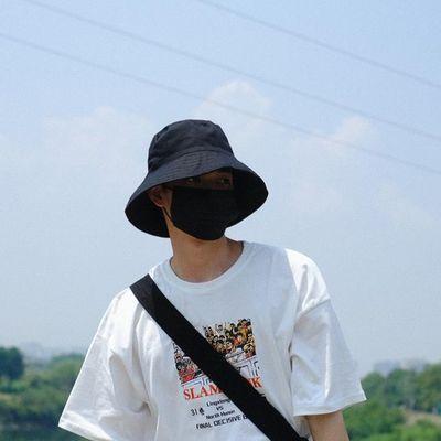 基础色适合做情侣款~纯色休闲渔夫帽子男女潮 夏季遮阳帽大檐盆帽
