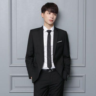 韩版男士西服套装修身西装三件套男休闲商务小西装英伦职业装正装