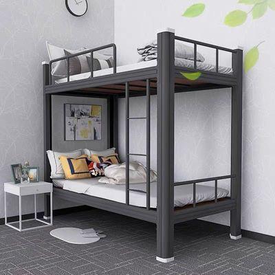 高低床上下铺铁床成人铁架床员工宿舍公寓双层床学生寝室床单层床