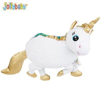 快乐宝贝布书婴儿立体3d早教书宝宝撕不烂益智玩具奶牛独角兽公仔