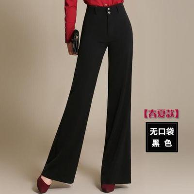 超垂感高腰阔腿裤中年女装长裤宽腿年轻妈妈装女裤2020夏装大脚裤