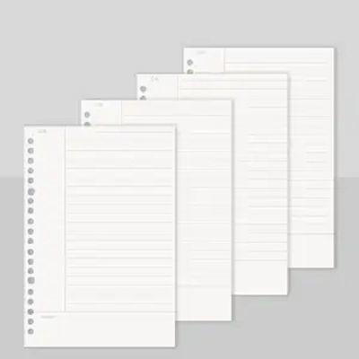 活页本手帐本笔记本本子手账本a4b5网格本子线圈本活页夹外壳替芯