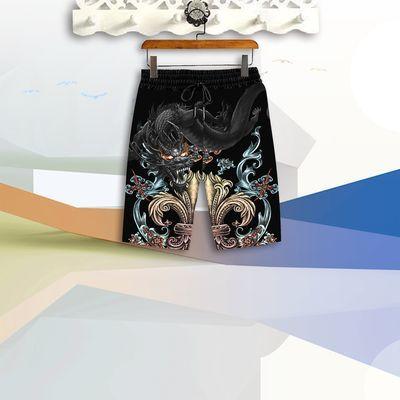 套装/T恤夏季潮牌男士休闲套装男士短袖短裤青年运动服中国风男装