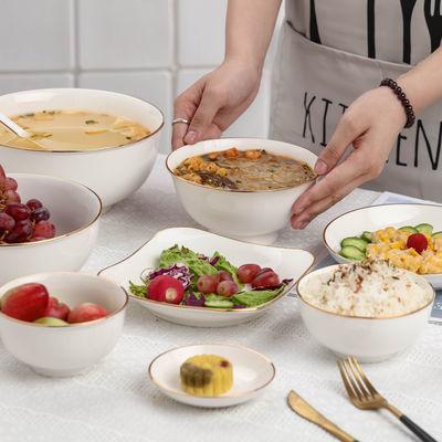 景德镇日式碗碟套装北欧陶瓷碗筷盘子家用餐具吃饭小碗32头组合