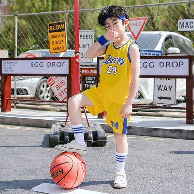 爆款中大小童男孩篮球服背心套装公牛队23号球衣套装夏季运动跑步