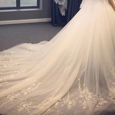 婚纱礼服2020新款拖尾新娘结婚韩版公主简约梦幻女显瘦齐地轻婚纱